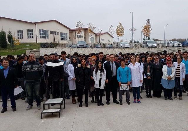Balkan Şampiyonu Aktaş'a okulunda tören yapıldı