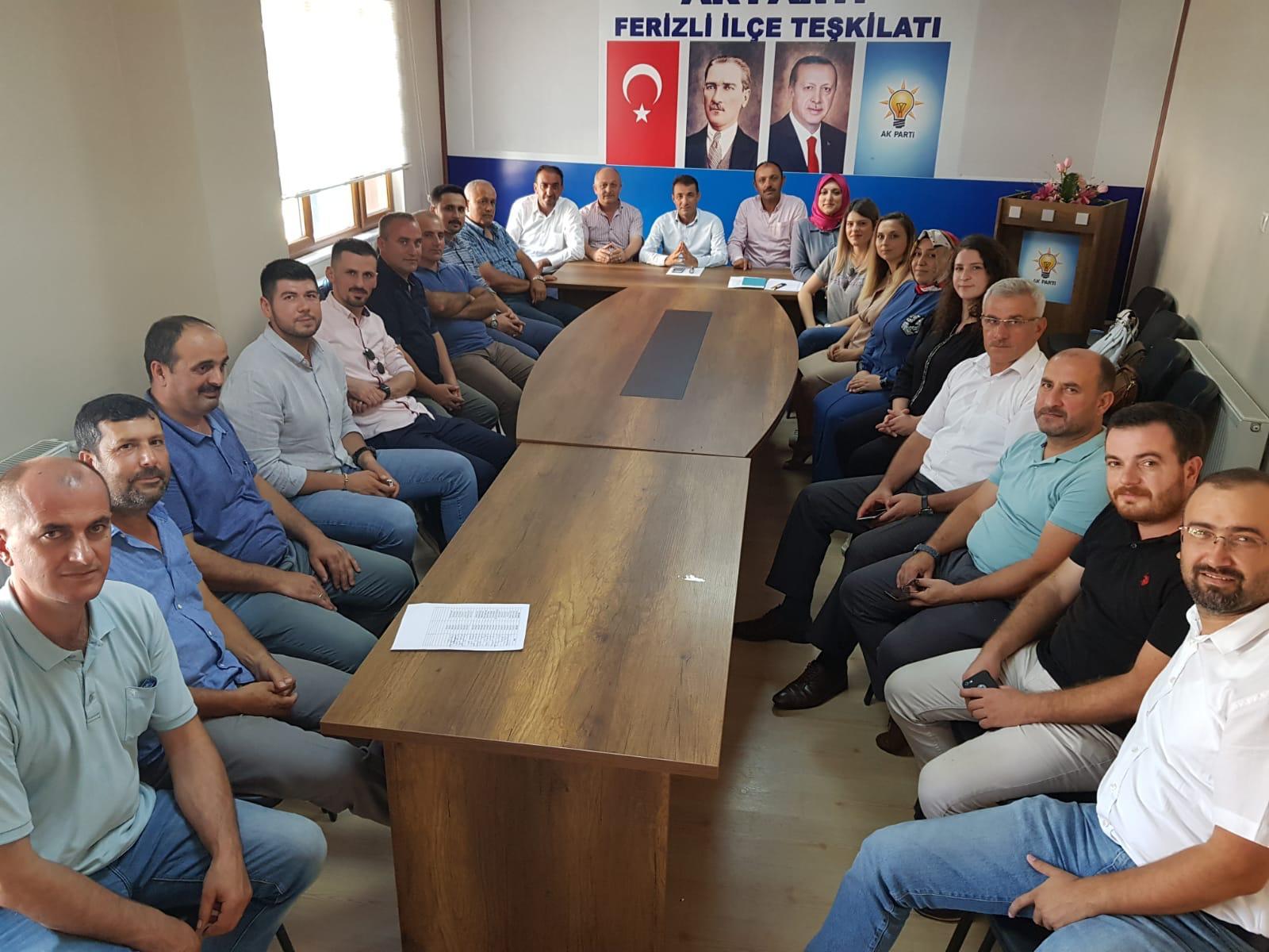 AK Parti Ferizli yönetimine onay çıktı