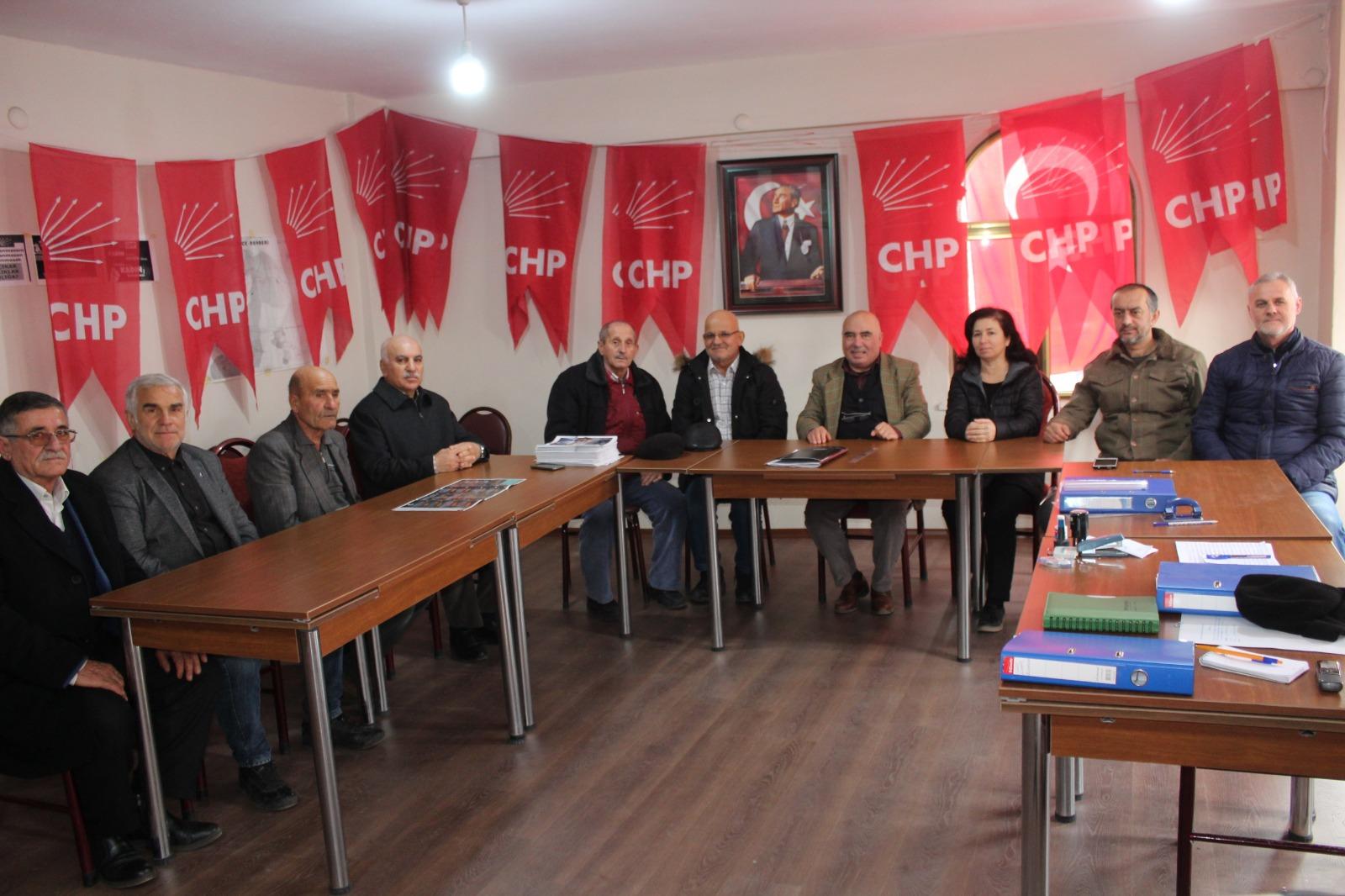 CHP Söğütlü'de görev dağılımı