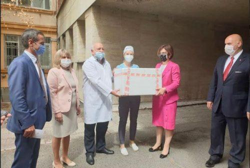 Kırcaali hastanesine test bağışı