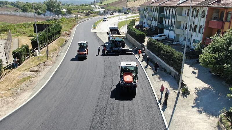 32 Evler'de asfaltlama sürüyor