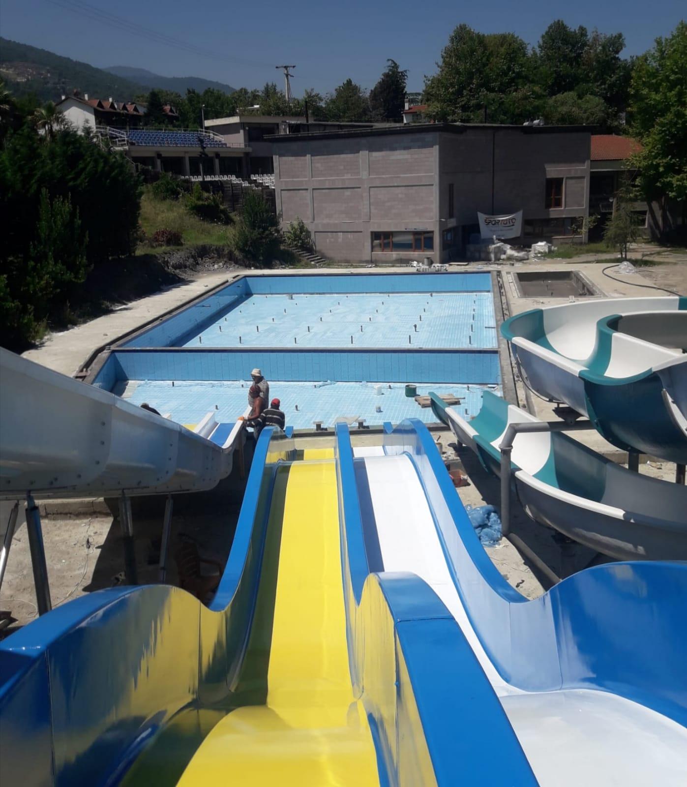 Sapanca'da havuz heyecanı