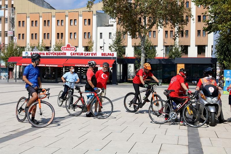 Gaziler için bisiklet turu